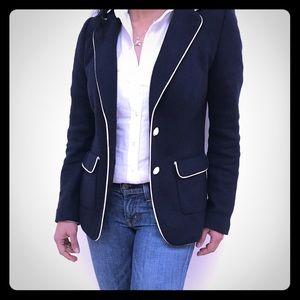 Versatile navy blue blazer by Bannana Republic